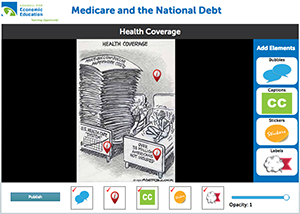 Image Annotation Tool for Health Coverage Cartoon